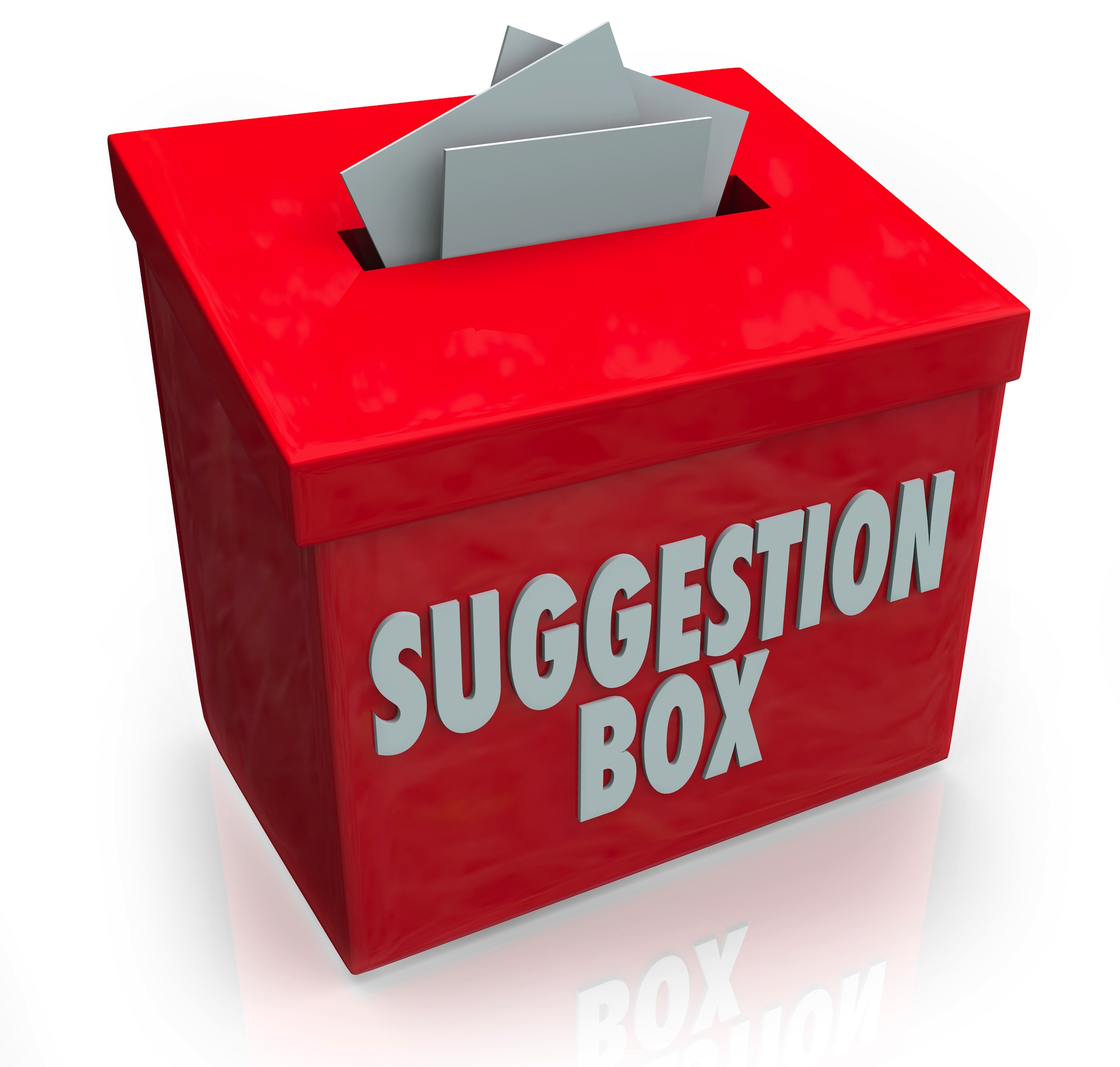 Illustration of a suggestion box