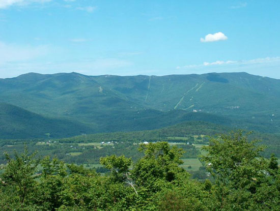 Here's a a view of the mountain our condo is on from across the valley. Can you guess where in VT this is and or name the road this photo was taken from? Send me an email if you know the answer.